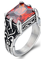 Ring Statement Rings Acrylic Euramerican Fashion Punk Hip-Hop Personalized Rock Resin Titanium Steel Square Jewelry For Men