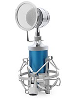 Professional Sound Studio Recording Condenser Microphone with 3.5mm Plug Stand Holder