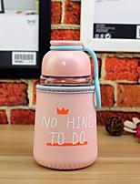 320ml mini copo de vidro de viagem conveniente desenhos animados drinkware garrafa