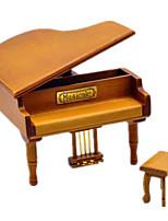 Music Box Piano Holiday Supplies Wood Unisex