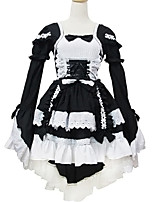 Outfits Sweet Lolita Lolita Cosplay Lolita Dress Solid Long Sleeve Short / Mini For