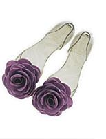 Flats feminino mola conforto geléia sapatos PU borracha casual azul roxo cinza
