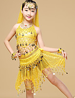 Shall We Belly Dance Outfits Kid Performance Chiffon Pendant 7 Pieces