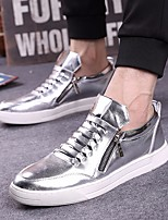Men's Sneakers Spring Comfort Tulle Casual Silver Gold