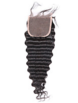 Braziian Deep wave Remy human  hair 130% Density 4x4 inch Lace Closure
