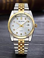 Унисекс Модные часы Кварцевый сплав Группа Повседневная Серебристый металл Золотистый