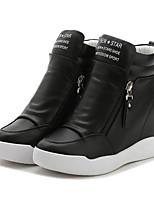 Women's Sneakers Spring Summer Creepers PU Outdoor Office & Career Casual Wedge Heel Zipper Walking