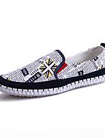 Черный Синий-Для мужчин-Для прогулок Повседневный Для занятий спортом-Ткань-На плоской подошве-Удобная обувь Светодиодные подошвы-