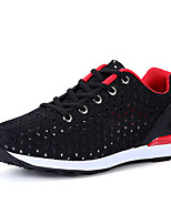 Men's Sneakers Spring Fall Comfort Fabric Outdoor Flat Heel Lace-up Blue Gray Black Walking