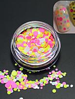 1Bottle Sweet Style Hot Fashion Nail Art DIY Beauty Glitter Round Paillette Colorful Thin Slice Decoration P25