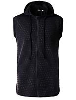 Sweat à capuche Homme Petites Tailles Décontracté / Quotidien simple 3D Print Col Arrondi Doublure Amovible Coton Manches longues