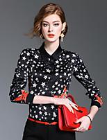 Camicia Da donna Per uscire Casual RomanticoCielo stellato Colletto Poliestere Manica lunga Medio spessore