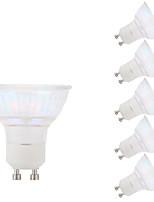 3W GU10 Spot LED MR16 1 COB 250 lm Blanc Chaud AC 100-240 V 6 pièces