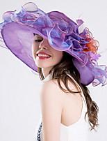 Womens Fashion Handmade Artificial Flower Mesh Floral Summer Or Spring Simple Sun Heart Print Bucket Hats Caps