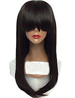 Hot Selling Brazilian Virgin Hair Lace Wigs Straight Full Lace Human Hair Wigs Straight Virgin Hair Wig with Bang