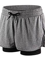 Femme Course / Running Cuissard  / Short Respirable Confortable Yoga Polyester Utilisation Tenues de Sport Gris Violet Rose Couleur Pleine