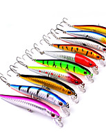 10 pcs Hard Bait Minnow Fishing Lures Hard Bait Minnow Lure Packs Multicolored g/Ounce mm/3-1/2
