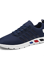 Men's Sneakers Ankle Strap Tulle Summer Fall Athletic Casual Blue Gray Black 1in-1 3/4in