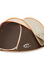 3-4 personnes Tente Double Tente automatique Une pièce Tente de camping 2000-3000 mm Fibre de carbone OxfordRésistant à l'humidité