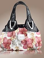 Women PU Outdoor Shoulder Bag Black