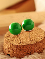 Fashionable Adorable Candy Color Ball Ball Stud Earrings