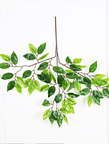 1 Branch Polyester Plastic Plants Wall Flower Artificial Flowers