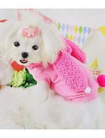 Dog Dress Dog Clothes Summer Princess Cute Fashion Casual/Daily Red Blushing Pink