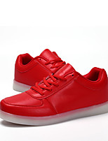 Women's Sneakers Spring Fall Comfort PU Outdoor Flat Heel Lace-up