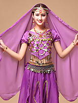Belly Dance Veil Women's Performance Tulle 1 Piece Headpieces Veil