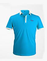 Unisexe Manches courtes Golf Hauts/Tops Respirable Anti-transpiration Confortable Blanc Orange Bleu Ciel Bleu Golf Sport de détente