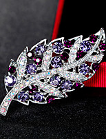 Women's Brooches Fashion Vintage Rhinestone Alloy Flower Jewelry For Wedding Party Special Occasion Daily