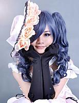 Perruque set black butler ciel phantomhive couleur classique mélangé deux traided queue de cheval perruque cosplay anime avec capuchon