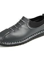 Herren Loafers & Slip-Ons Komfort Mokassin PU Frühling Sommer Outddor Büro Lässig Elastisch Flacher Absatz Weiß Schwarz Grau Flach