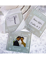 2pcs/set Hope / LOVE / Faith Photo Frame Coaster Beter Gifts® Tea Party Favor