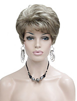 Lady Women Short Layered Blonde with Highlights Full Synthetic Wig Wigs