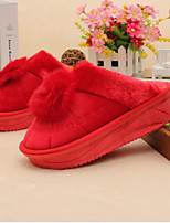 Women's Slippers & Flip-Flops Winter Comfort Sheepskin Casual Red Fuchsia Black