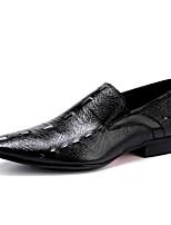 -Для мужчин-Свадьба Для офиса Повседневный Для вечеринки / ужина-Кожа-На плоской подошве-Баллок обувь-Туфли на шнуровке