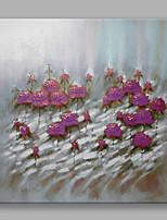 Ручная роспись Цветочные мотивы/ботанический Квадратная,Modern 1 панель Холст Hang-роспись маслом For Украшение дома