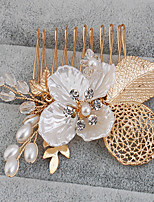 Alloy Headpiece-Wedding Special Occasion Casual Office & Career Outdoor Headbands Flowers Hair Stick 1 Piece