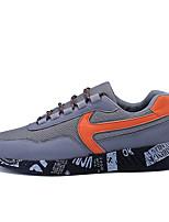 Черный Оранжевый-Для мужчин-Повседневный-ПолиуретанУдобная обувь-Кеды