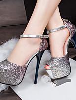 Damen-High Heels-Lässig Party & Festivität-PU-Stöckelabsatz Plateau-D'Orsay und Zweiteiler-
