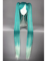 Long VOCALOID-Miku Blue Mixed Anime 48inch Ponytails Cosplay Wigs CS-174A