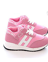 Girls' Flats Spring Fall Comfort First Walkers PU Outdoor Casual Walking Low Heel Magic Tape Blushing Pink Black White