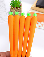 12 PCS Carrots Black Ink Colors Gel Pen Set