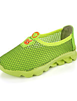 Girls' Loafers & Slip-Ons Summer Comfort Fabric Casual Flat Heel Yellow Green Blue
