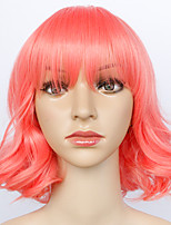Bobo Short 30cm Pink Body Wave Wigs Capless Wigs for Women Costume Wigs Cosplay Wigs