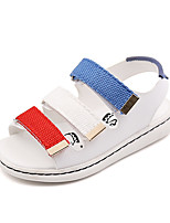 Boys' Sandals Summer Gladiator Comfort Leatherette Outdoor Office & Career Party & Evening Casual Flat Heel Magic Tape Blue Red White