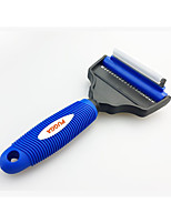 Dog Cleaning Brush Comb Brush Clipper & Trimmer Portable Blue