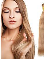 Cabelo humano remy real virgem peruano eu ponho extensões do cabelo 0.5g / s 8a ponta i extremidade extensões do cabelo humano 100s / lot