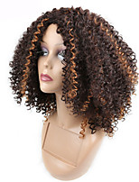Fashion Sexy Women Short Curly Wigs Brown Mixed Color Cosplay Synthetic Wigs